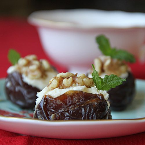Ginger Spiked Stuffed Dates