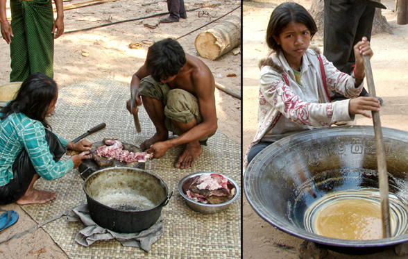 cambodia locals cooking