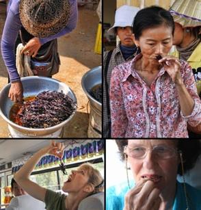How to eat a tarantula in Cambodia