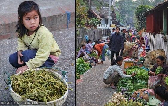 luang prabang, laos - little girl at the market