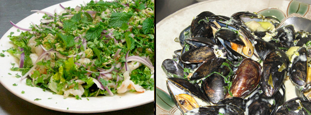 Spicy-Prawn-Salad-thai-green-curry-mussels