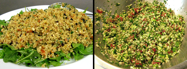 quinoa salad and tabouli