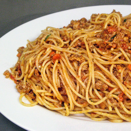 Spaghetti with Bolognese Sauce