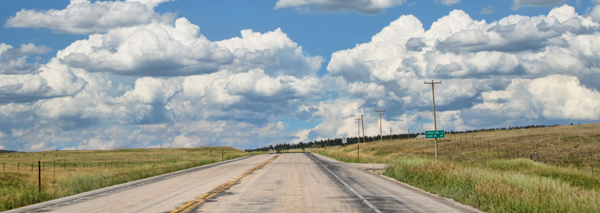 road outside of Cheyenne, WY