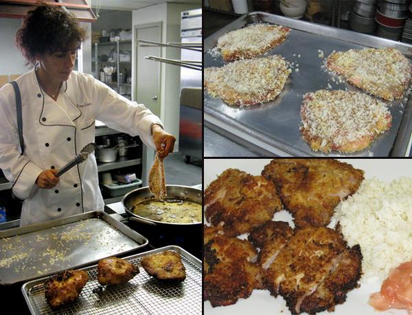 Rona making Pork Tonkatsu