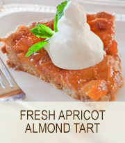 Fresh Apricot almond tart | she Paused 4 thought