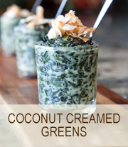 Coconut Creamed Greens | She Paused 4 Thought