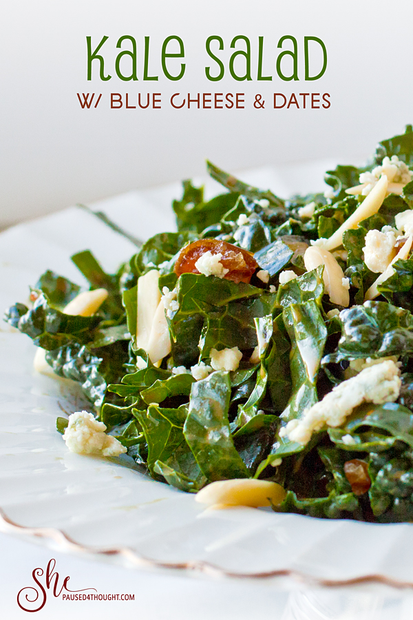 Kale Salad with Blue Cheese & Dates
