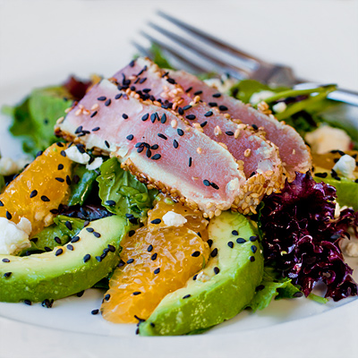 Seared Tuna and Orange Supreme Salad