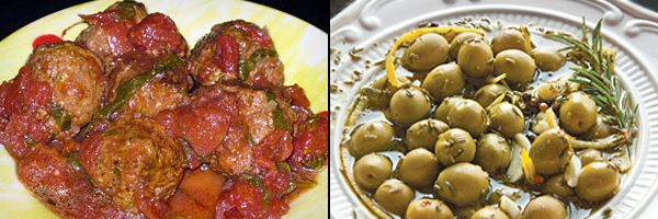 Spanish Meatballs - olives