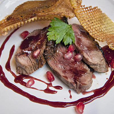 Duck Breast with Pomegranate Reduction