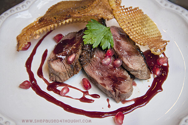 duck-with-pomegranate-reduction-sauce