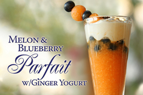melon-and-blueberry-parfait