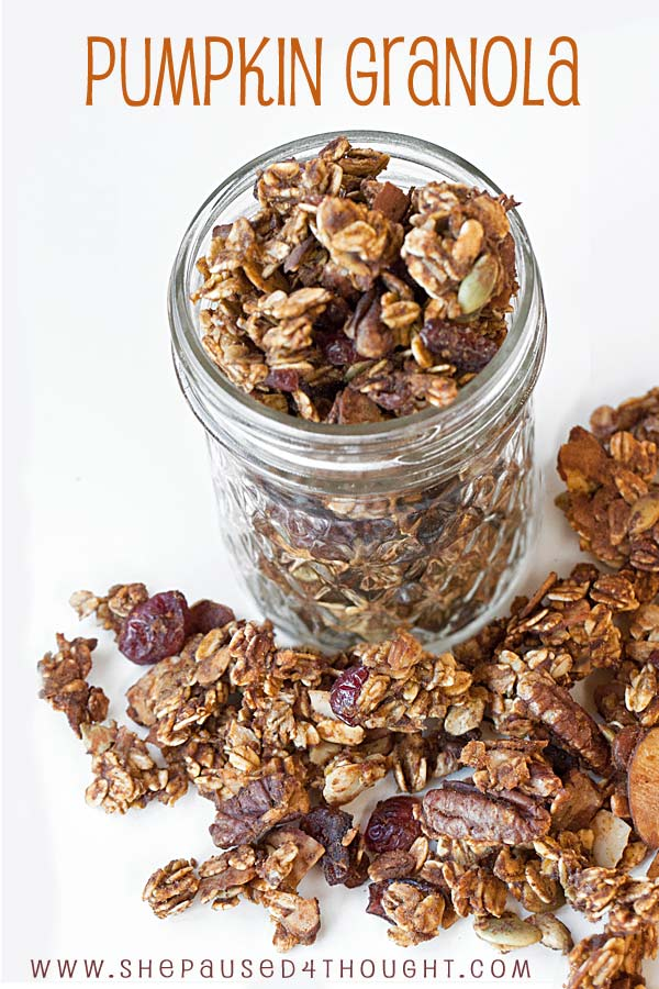 Pumpkin Granola | She Paused 4 Thought