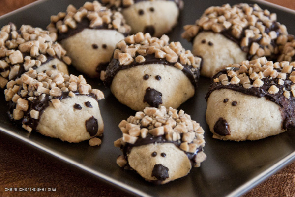 hedgehog cookies | she paused 4 thought
