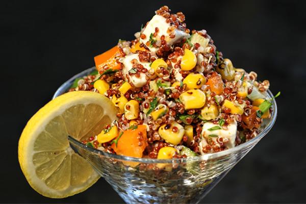 Quinoa Salad with Corn & Fresh Herbs