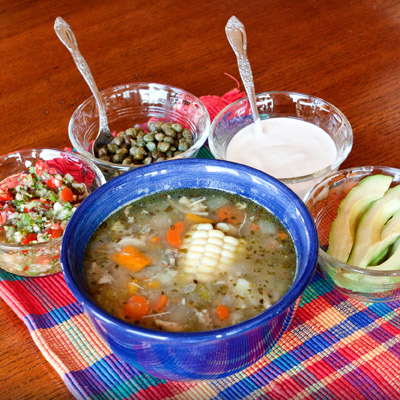 Ajiaco (Colombian Chicken & Potato Soup)