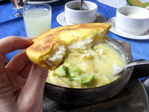 Ajiaco in Funzipa, Colombia