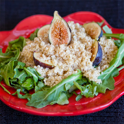 Quinoa Arugula Fig Salad | She Paused 4 Thought