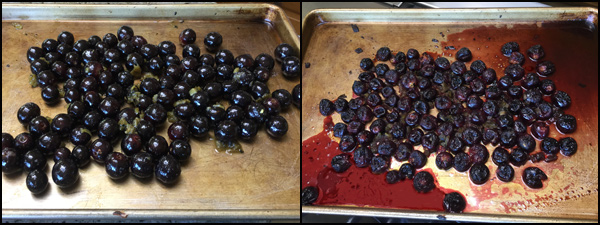 roasted grapes and hatch chiles | She Paused 4 Thought