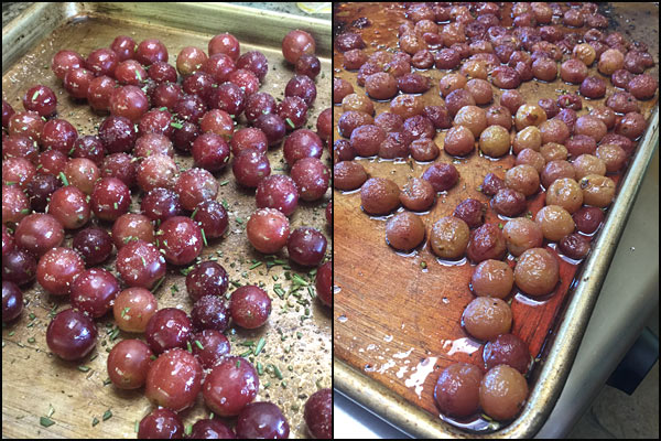 roasted Moscato red grapes| She Paused 4 Thought