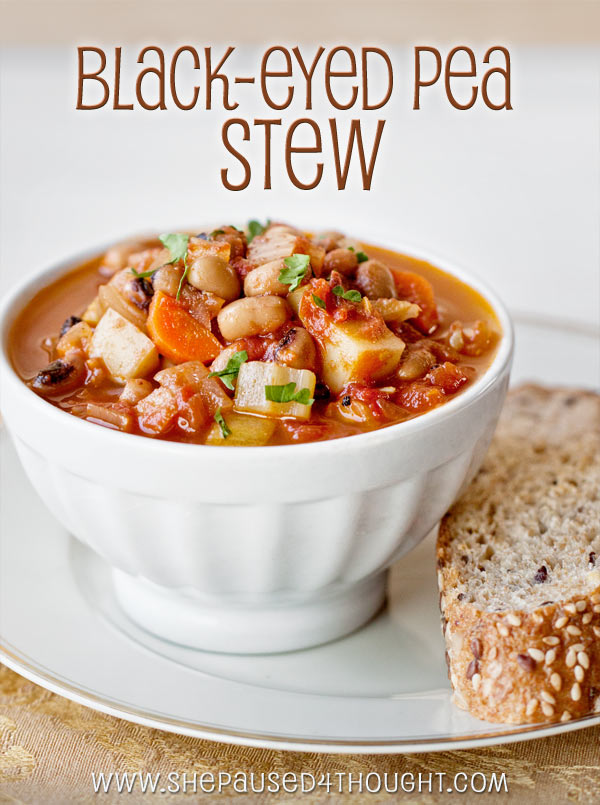Black-eyed Pea Stew | She Paused 4 Thought