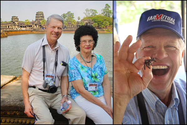 Parents in Angkor Wat Cambodia | She Paused 4 Thought