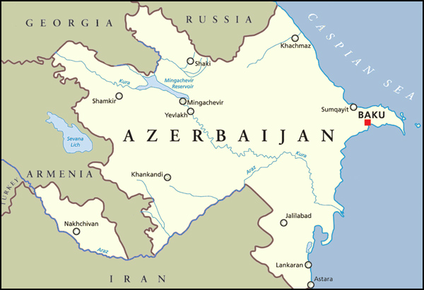 Azerbaijan map | She Paused 4 Thought
