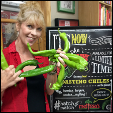 Cathy with Hatch-Chiles | She Paused 4 Thought
