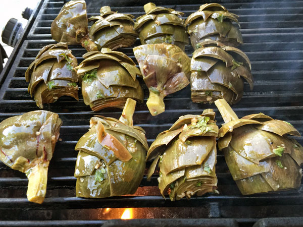 artichokes-on-grill | She Paused 4 Thought