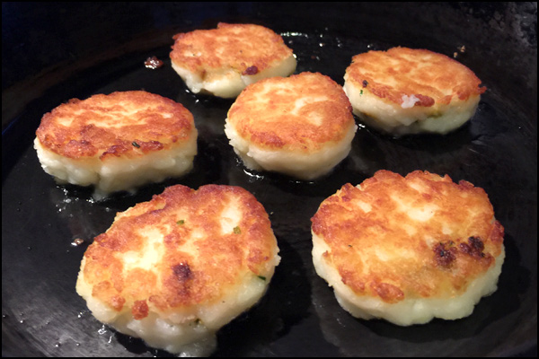 Llapingachos-Ecuadorian filled potato cakes | She Paused 4 Thought