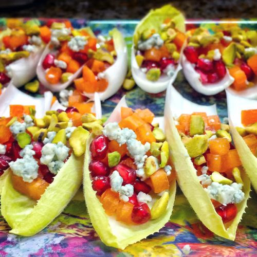 Persimmons & Pomegranate Endive Cups