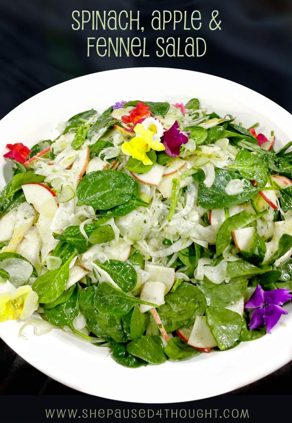 Spinach, Apple and Fennel Salad | She Paused 4 Thought