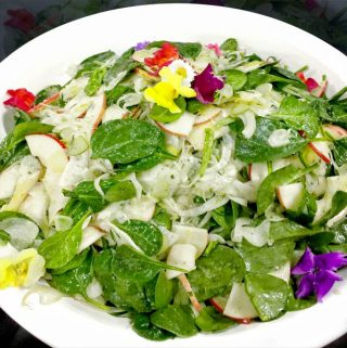 Spinach Apple Fennel Salad | She Paused 4 Thought