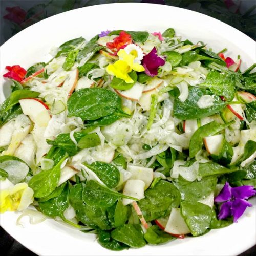 Spinach, Apple and Fennel Salad