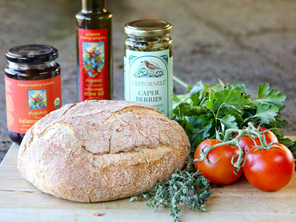 ingredients for Mallocan Tomato Toasts