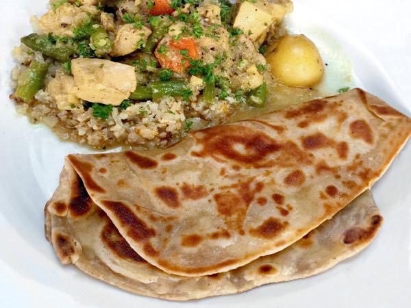 Omani Maldouf and Chicken Curry