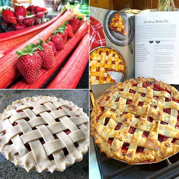 rhubarb strawberry pie - Bring It! Cookbook