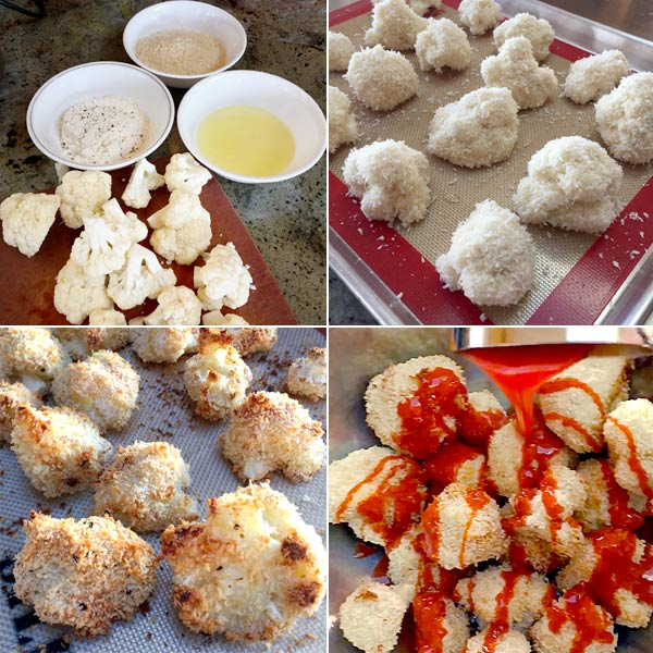 Prepping for Buffalo Baked Cauliflower   Siriously Delicious Cookbook