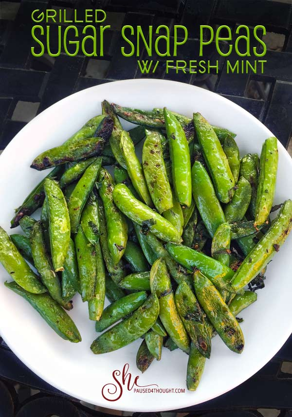 Grilled sugar snap peas from Project Fire Cookbook by Steven Raichlen