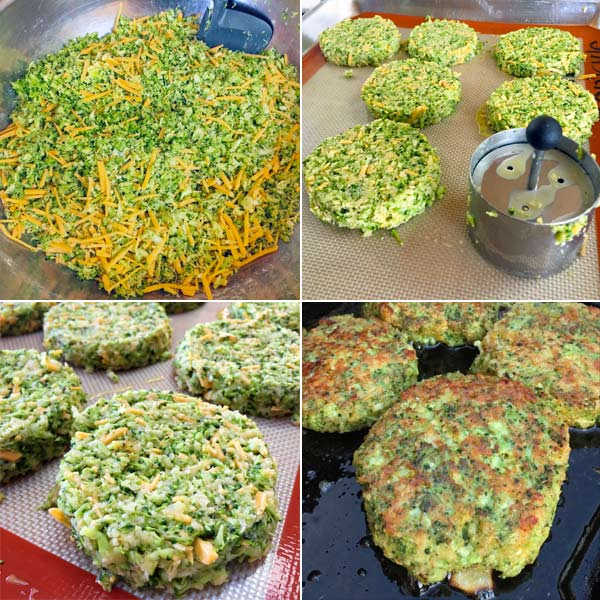 broccoli fritters from cookbook Siriously Delicious