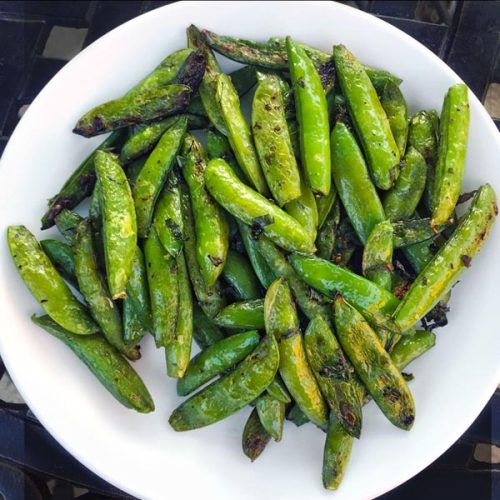 Grilled Sugar Snap Peas – Project Fire
