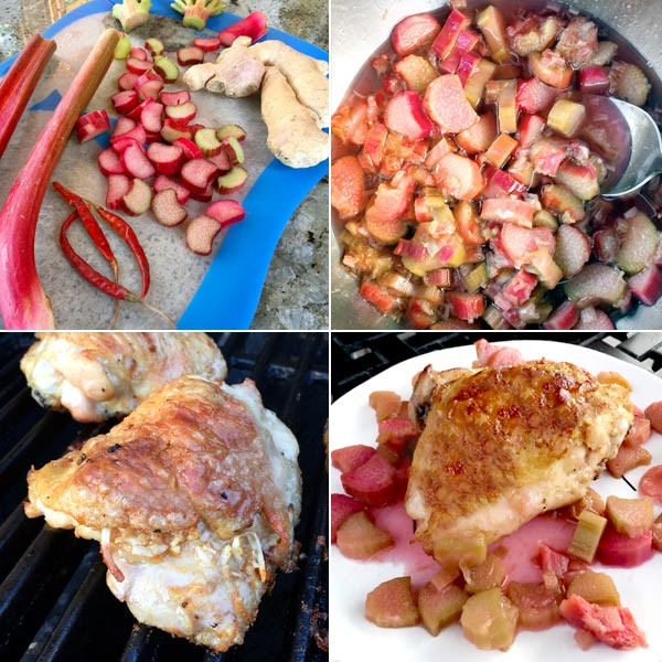 Rhubarb chicken from French Grill Cookbook