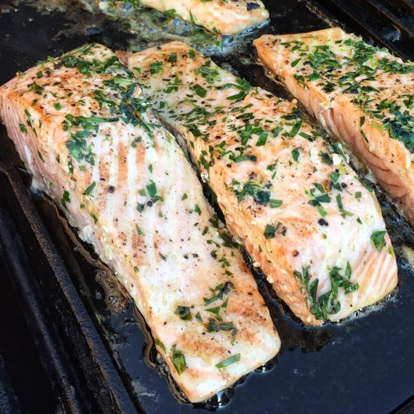 salmon with Tarragon Butter from French Grill by Susan Herrmann Loomis