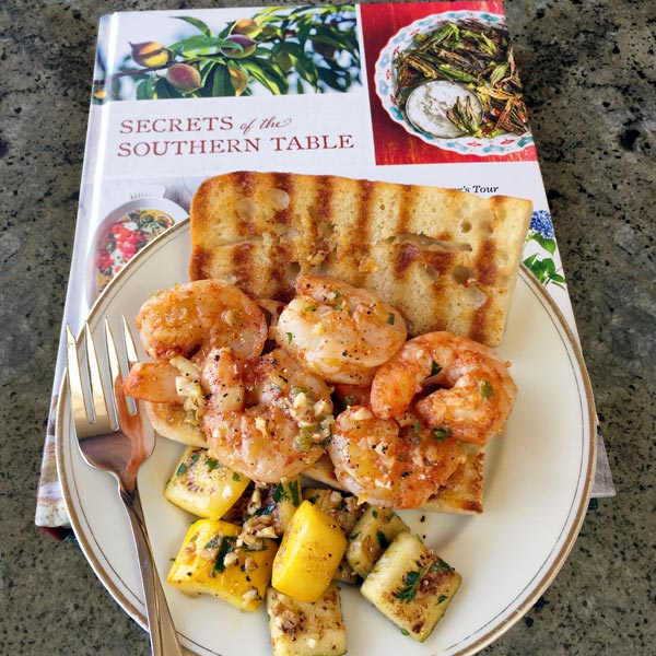 spicy asian cajun bbq shrimp - from Secrets of the Southern Table Cookbook