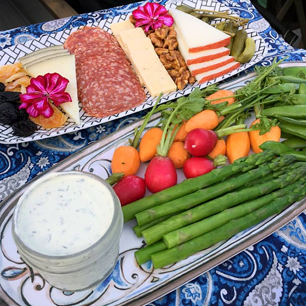 Yogurt Herb Dip Platter from Nathan Turner's I Love California Cookbook