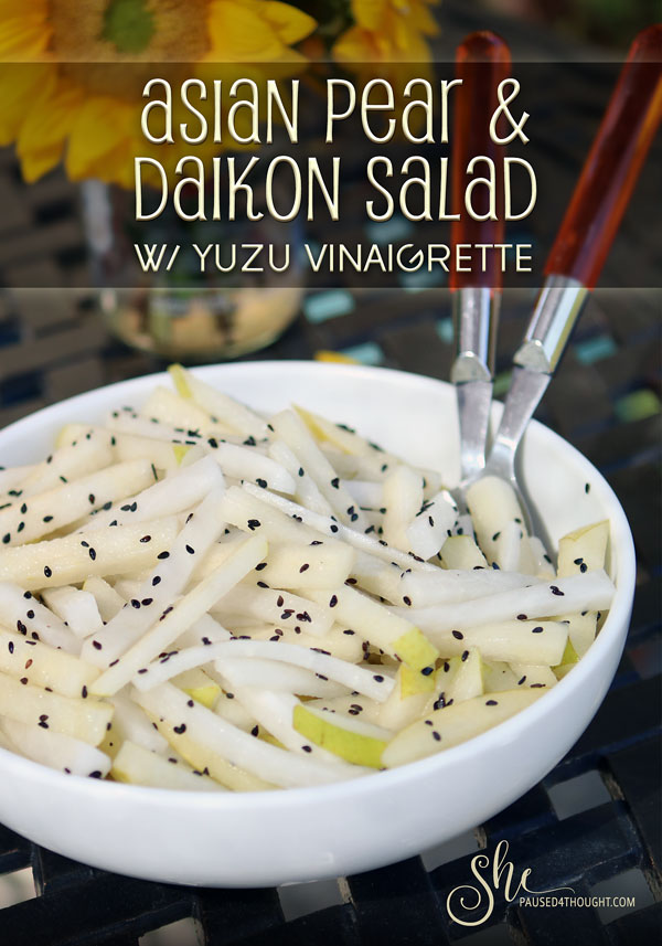 Asian Pear and Daikon Salad | Roots Cookbook by Diane Morgan