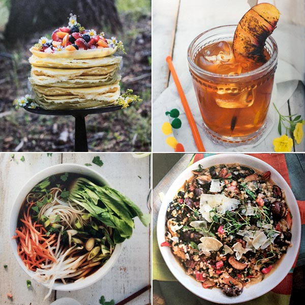 Photo collage from The Camp & Cabin Cookbook by Laura Bashar