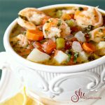 Shrimp Soup from Delicious El Salvador Cookbook
