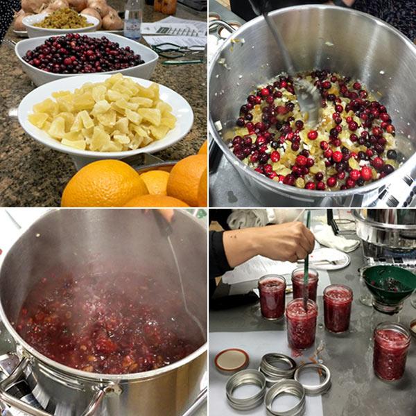 Making Cranberry Chutney